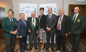 16/09/2016. Fáilte Ireland supports World Shore Angling Championships. Pictured at the launch of the 2016 World Shore Angling Championships are Anne Whitty, Captain of the Irish Ladies Senior Team, Brendan Howlin TD, Pat Walsh President of the Irish Federation of Sea Anglers, Frances Kinsella, Fáilte Ireland, Minister Paul Kehoe TD, Cllr. Tony Dempsey, Deputy Mayor and Martin Howlin Captain of the Irish Mens Senior Team,. Picture: Patrick Browne The international week-long event will take place in Wexford starting on 12th November with over 250 competitors from 30 countries set to descend on Irish shores. Fáilte Ireland is supporting the championships through its Event Ireland team who work to bring international events to Ireland and are expecting a welcome boost not just for Wexford but for Ireland.